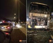 Во Владимире загорелся автобус, следовавший в Муром